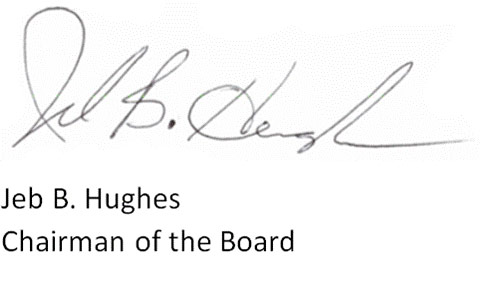 Chairman of the Board Letter